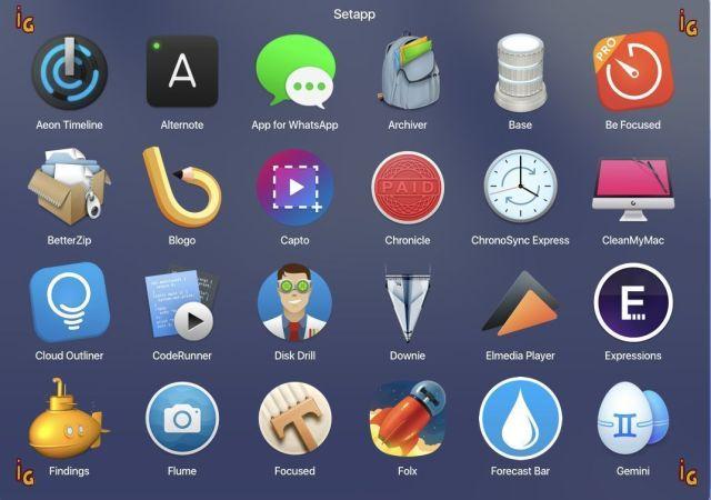 servicio de apps por suscripción: SetApp