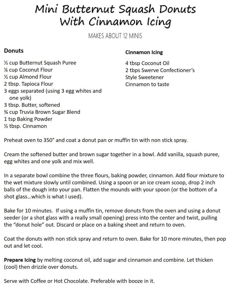 Mini Butternut Squash Donuts Recipe