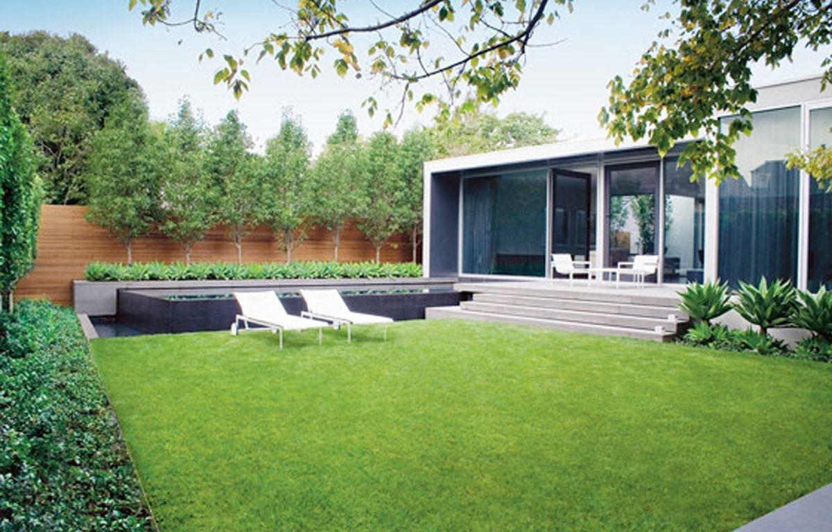 best minimalist house with garden decoration