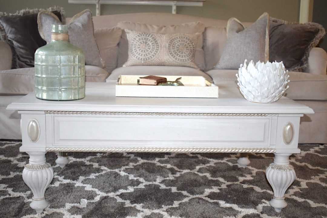 chalk painted living room table