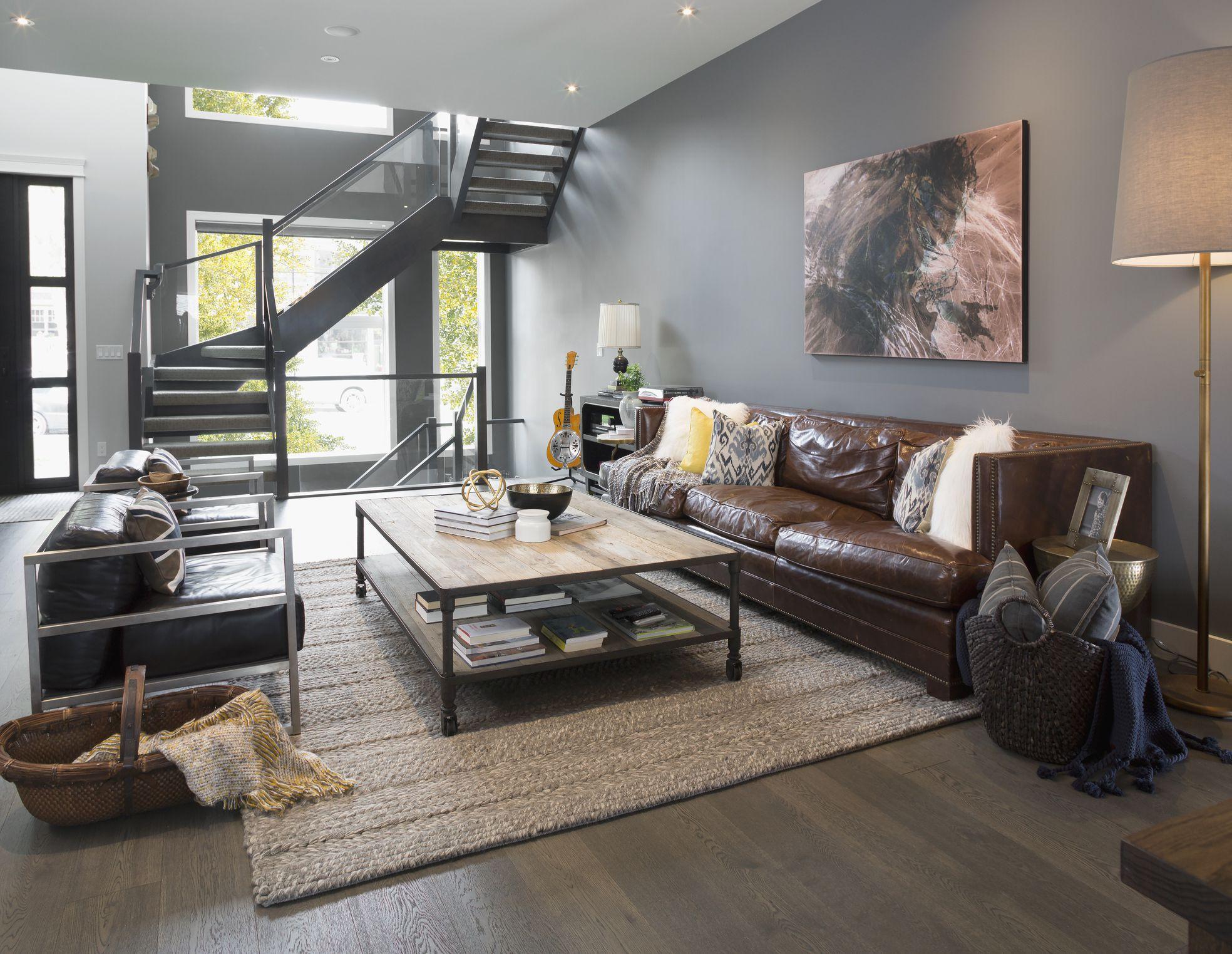 grey matte mixture living room