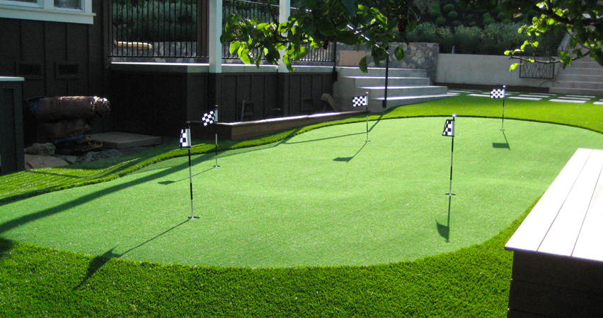large backyard putting green