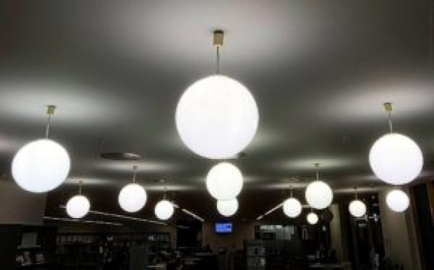 light fixtures with round bulb