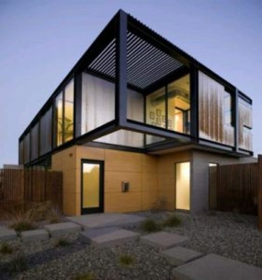 Big Window Container House Design