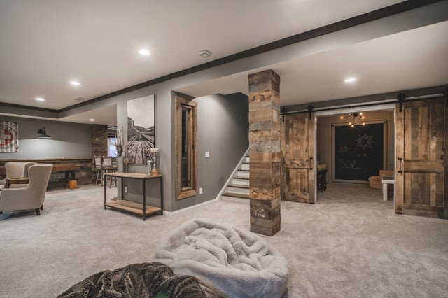 beautiful house under a house basement