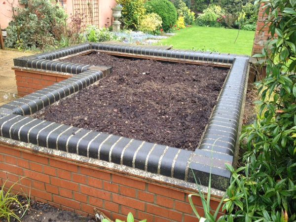 garden beds with brick for vegetable garden planters