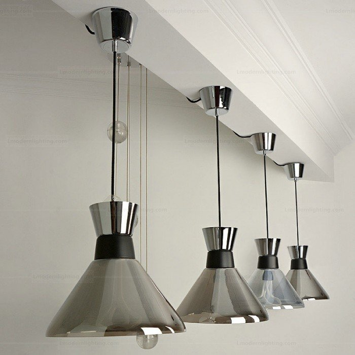 mettallic transparency hanging lamp design