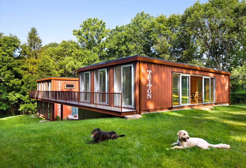 natural two side container house