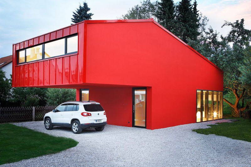 red exterior house ideas