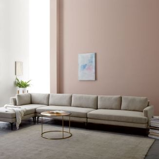 sofa sleeper with long seats and pillows