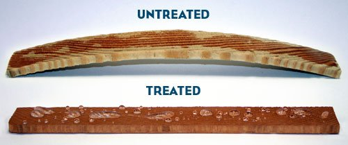 untreated wood and treated wood compare