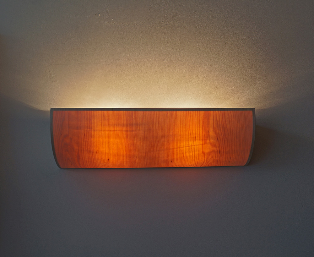 uplight wooden lamp lighting design