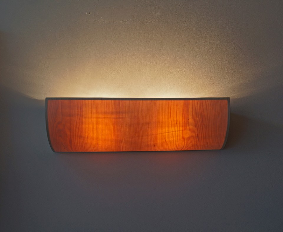 uplight wooden lamp lighting design