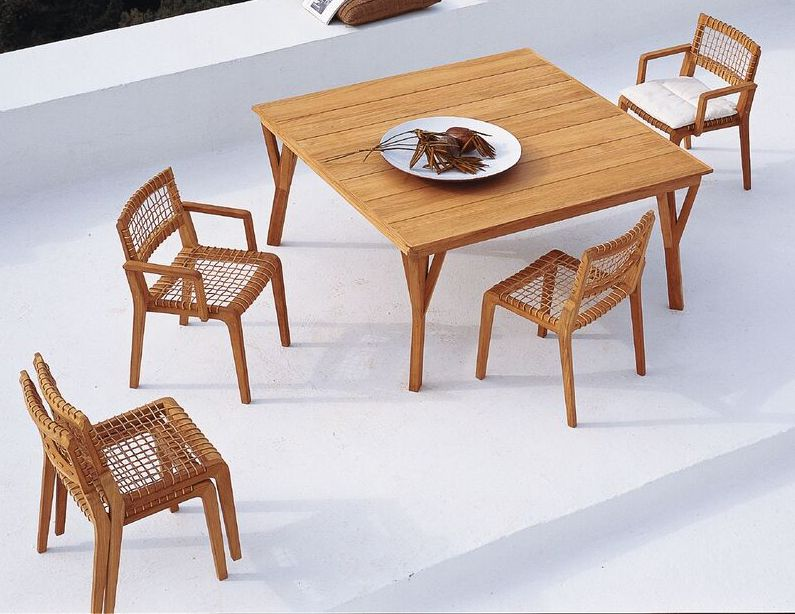 wooden lounge chair for terrace design