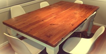 wooden table modern style and minimalist