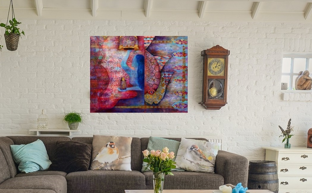 abstract painting design living room ideas