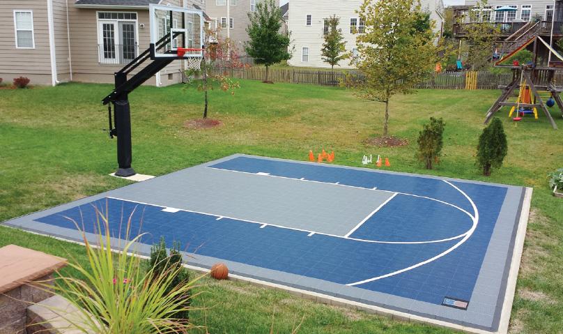 backyard sport court ideas and design