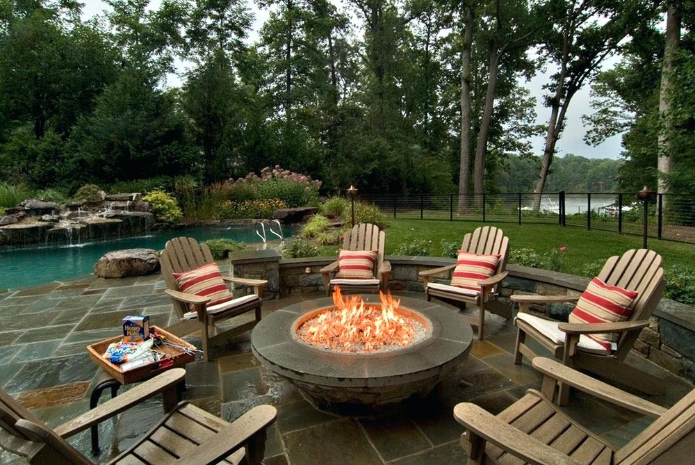 backyard with fire pit inspiration