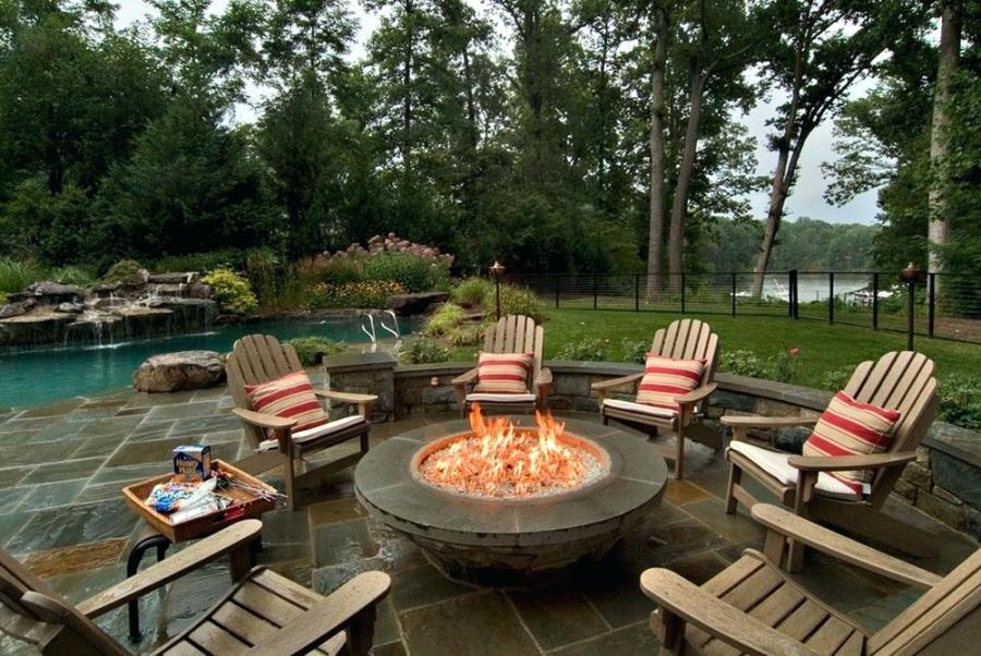 backyard with fire pit inspiration