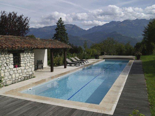 beautiful lap pool