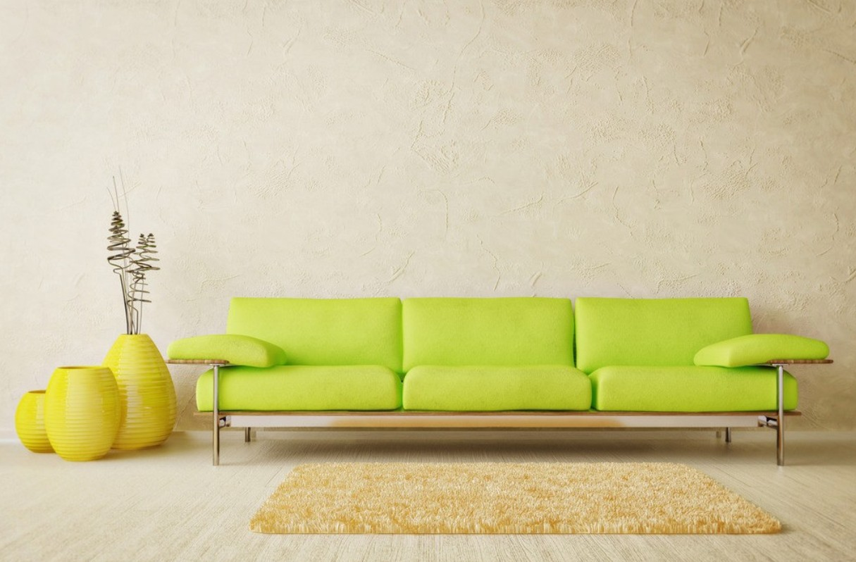 bright color sofa design
