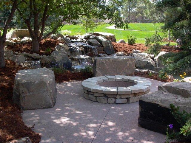 build backyard fire pit