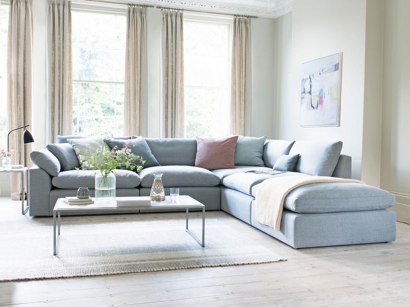 calm and bright color sofa ideas