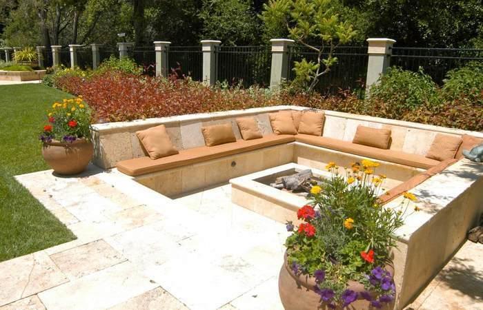 cozy patio backyard