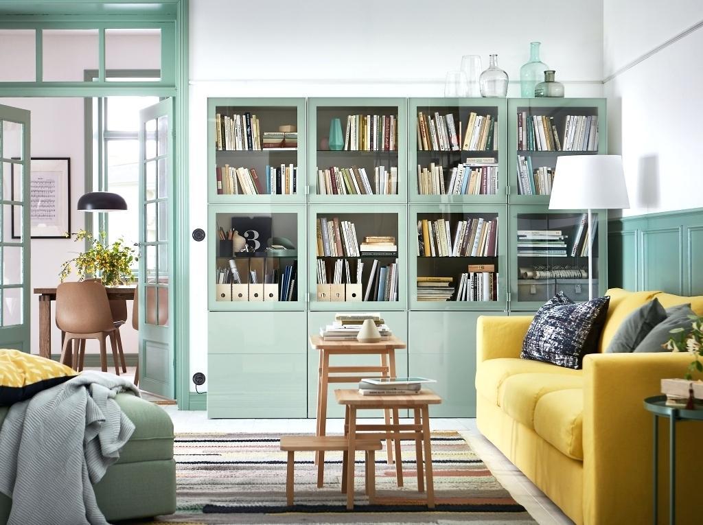 family room bookshelf