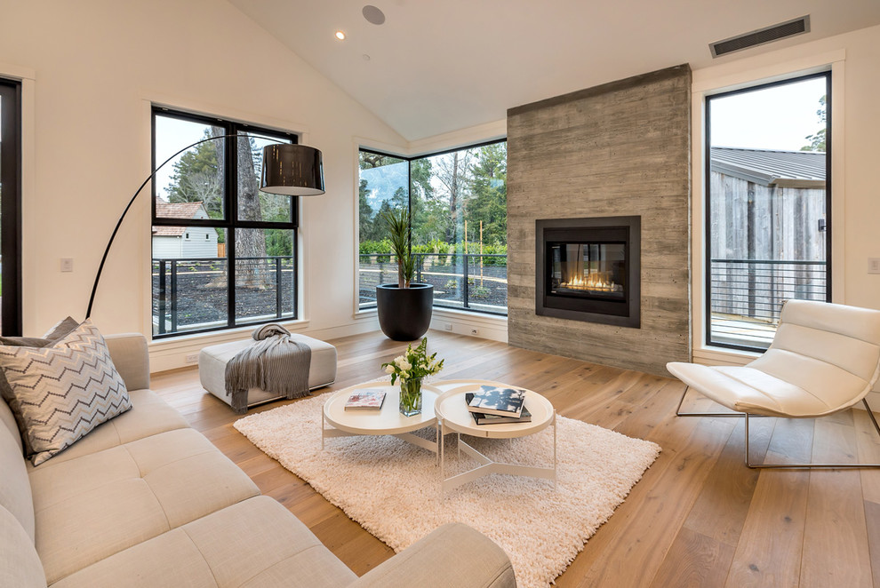 fireplace decoration ideas with glass