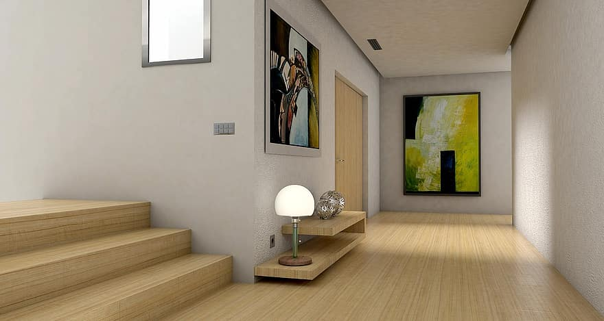 floor gang input entrance hall lichtraum gallery living room apartment graphic