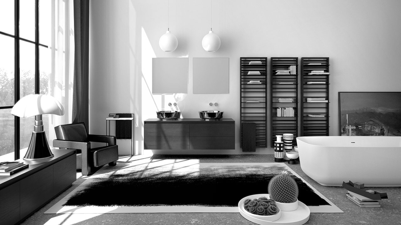 interior design monochrome furniture