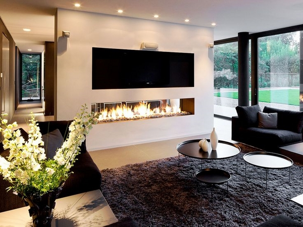 modern fireplace contemporary ideas
