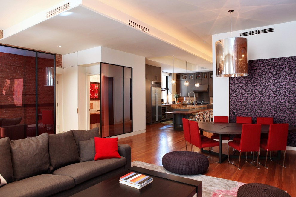 modern house brown color red combination