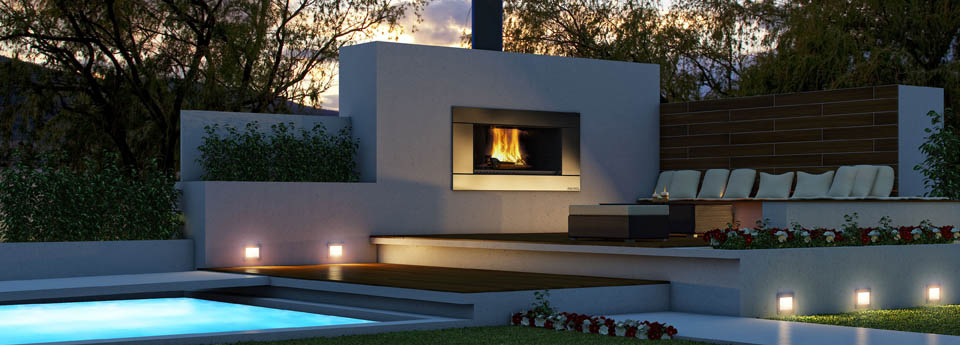 modern outdoor fireplace ideas
