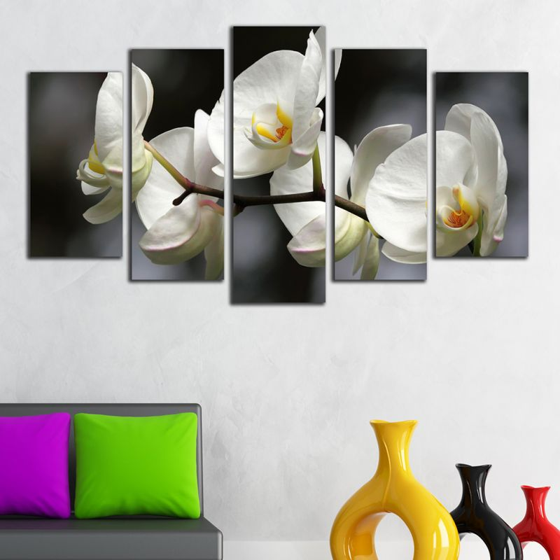 natural orchid wall art design