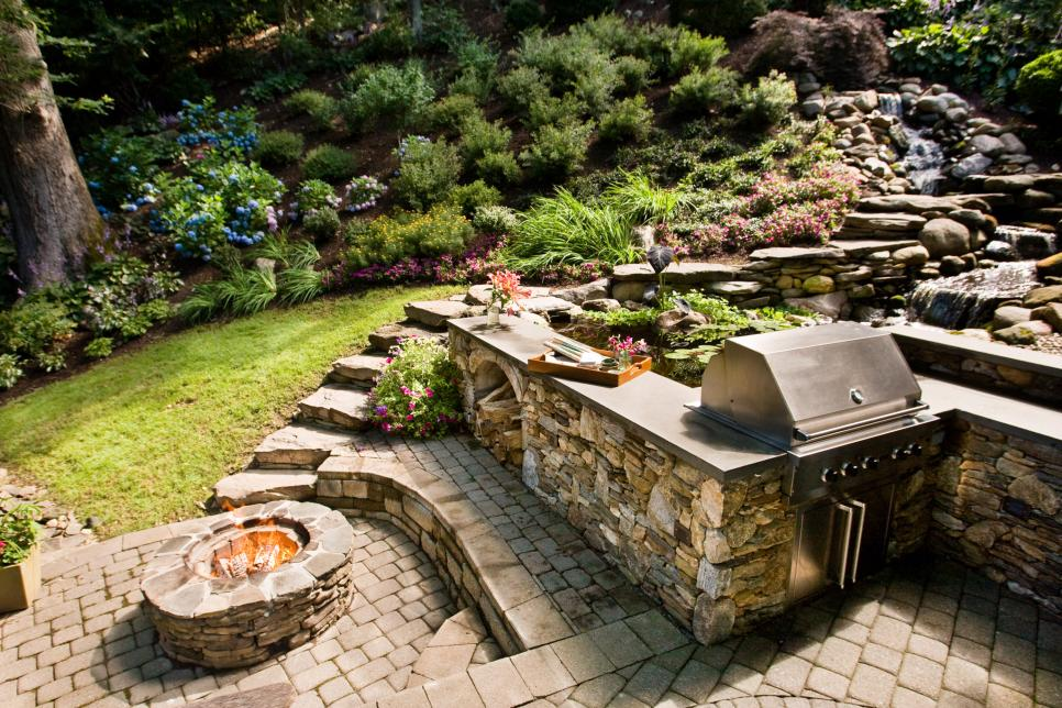 outdoor fire pit backyard ideas