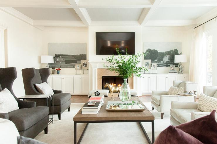 shelves ideas with fireplace