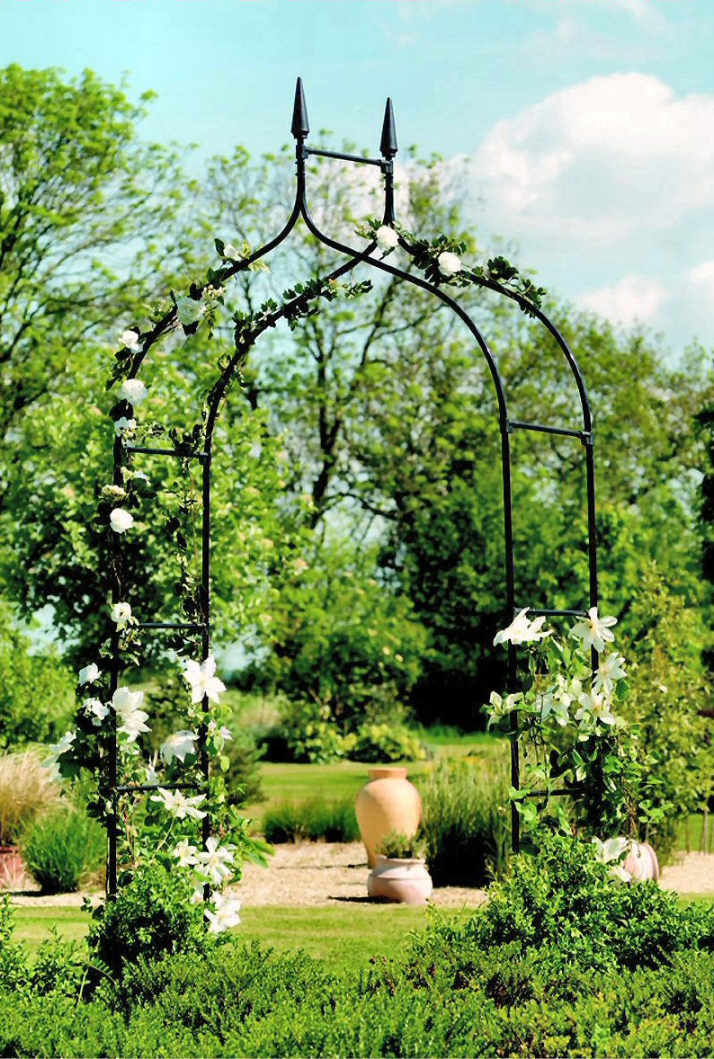 wrought iron backyard design
