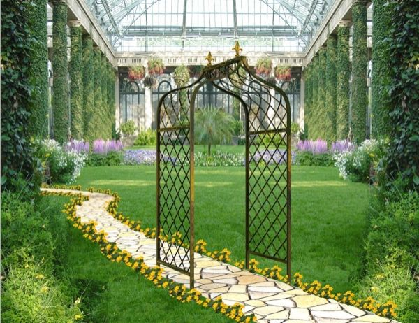 wrought iron concept patio design