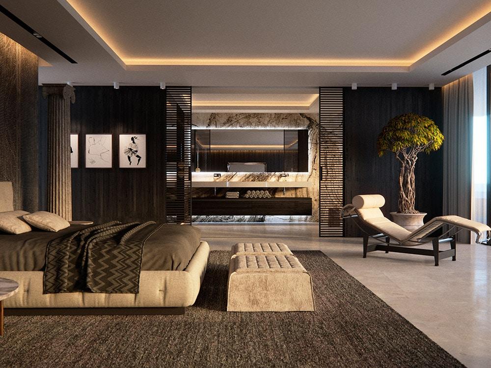 1 bedroom with den furniture