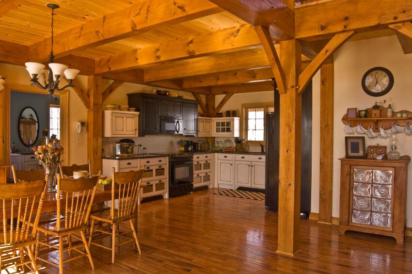 dark wood floors kitchen ideas