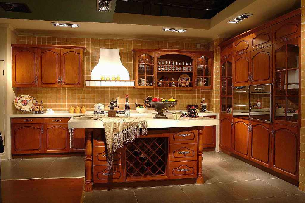 kitchen cabinet with shelving design