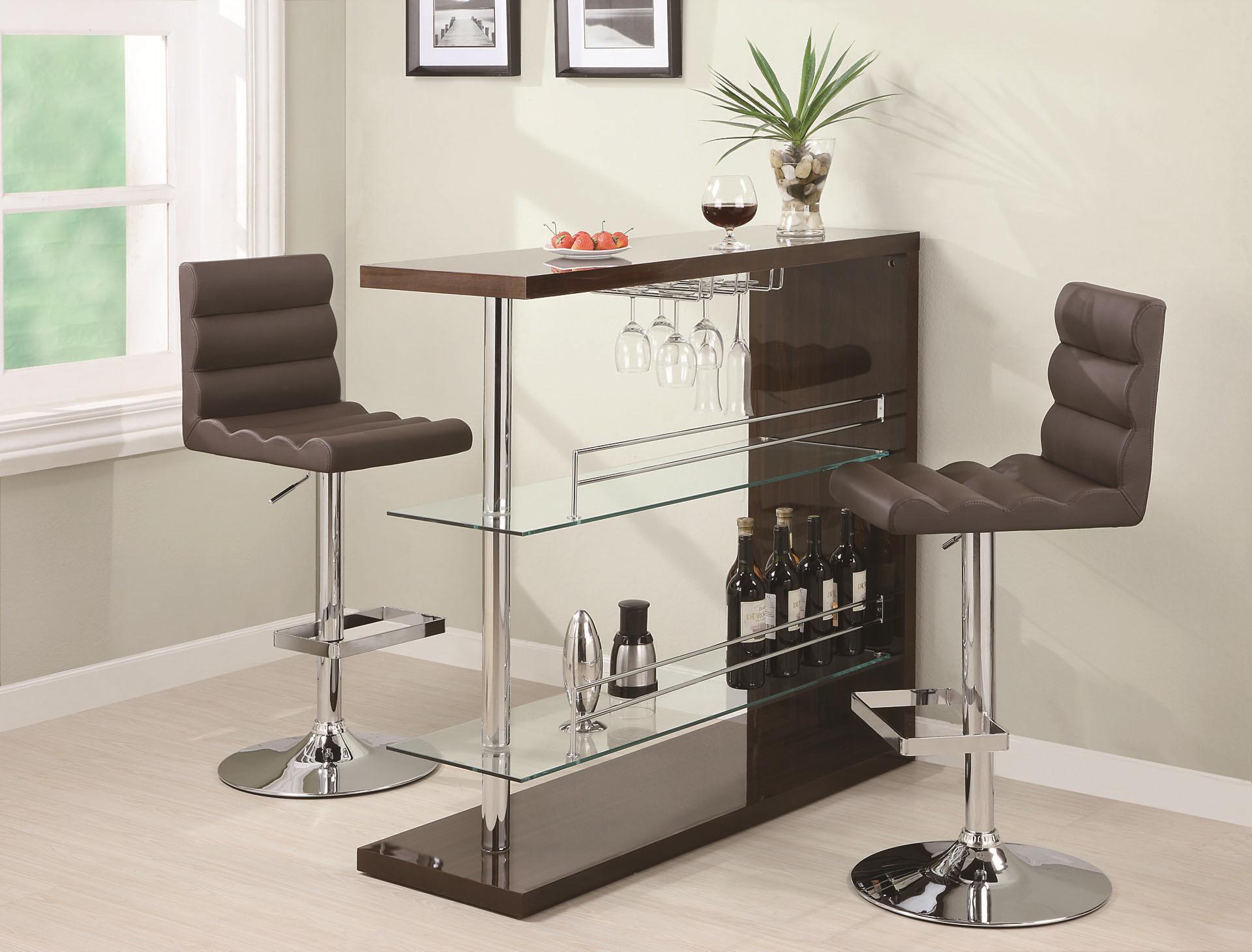 minimalist design bar shelf