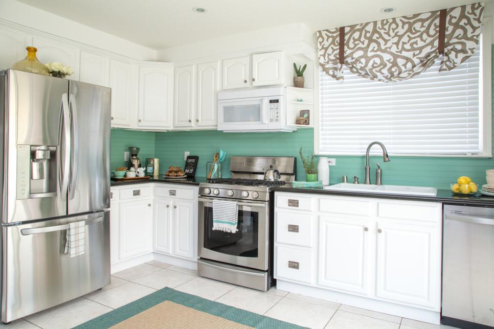 open shelving kitchen cabinet