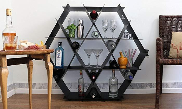 geometric home bar rack