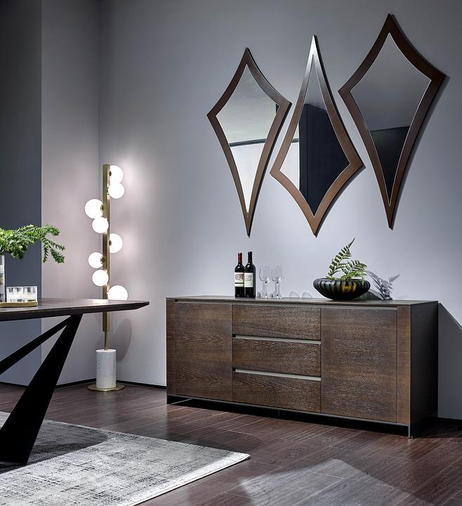 living room design - mirror ideas