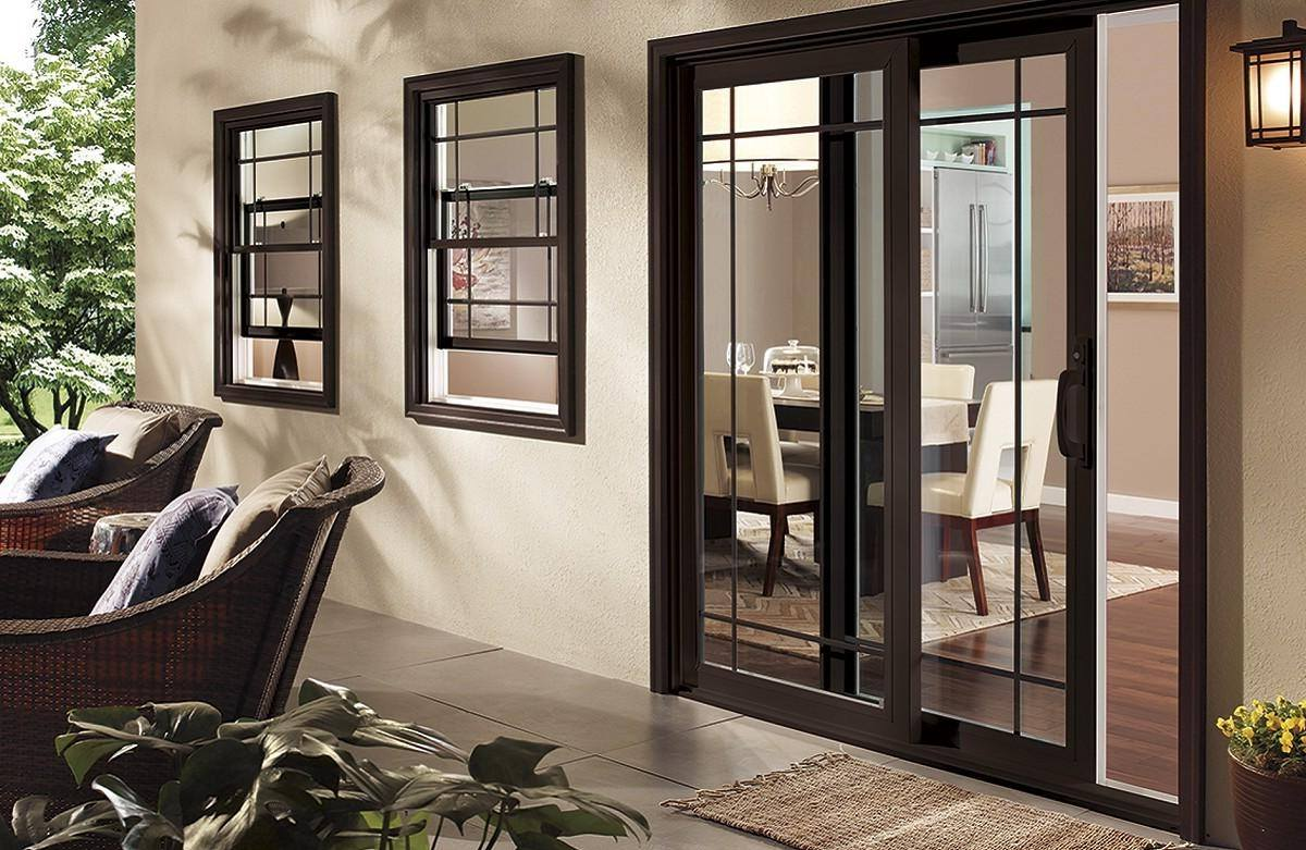 black coated sliding doors