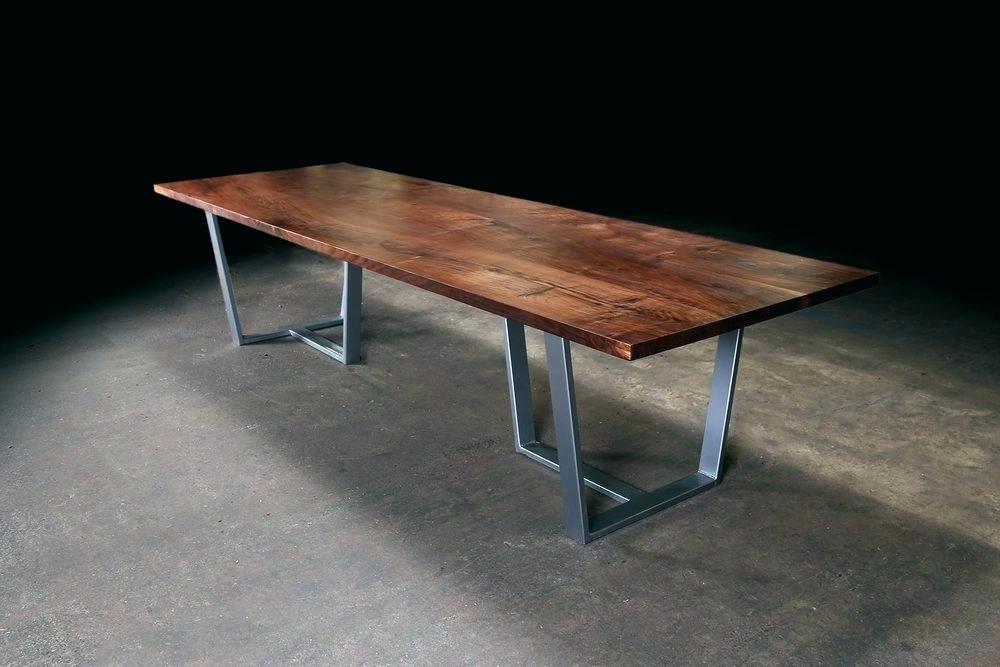 black nut dining table straight design