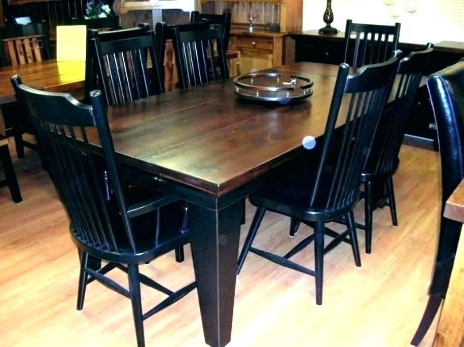 black table and chairs design